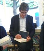 Alan Rusbridger signing books at St John's Wood Library, May 2013