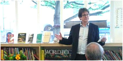 Alan Rusbridger at St John's Wood Library, May 2013