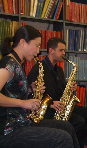 Classics Saxophone Quartet at Westminster Music Library, May 2013