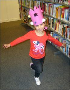 Crown craft activity at Maida Vale Library, May 2013