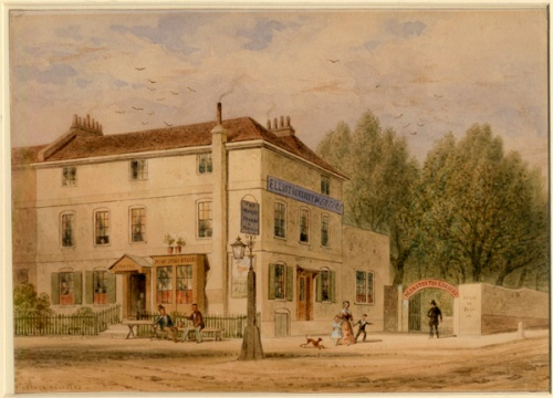 Monster Tavern, Ebury Bridge 1857. Image property of Westminster City Archives.