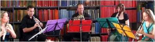 Apollo Wind Quintet at Westminster Music Library, July 2013