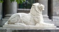 Marylebone Council House lion after restoration, July 2013