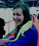Zsuzsanna and the lizard at the ExCel Business Show 2013