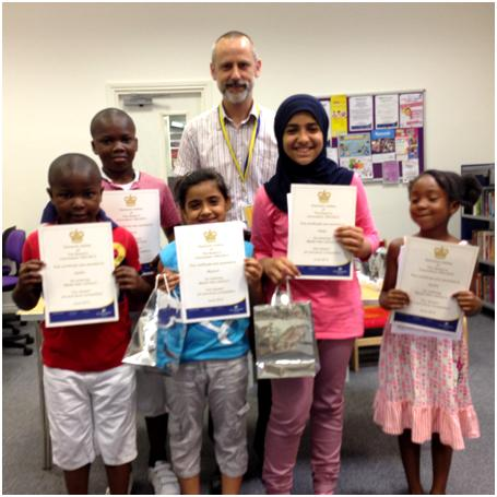 'Our Queen Art & Story' competition winners and runners up, July 2013