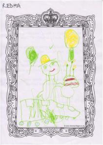 Winning picture by Redha, aged 5