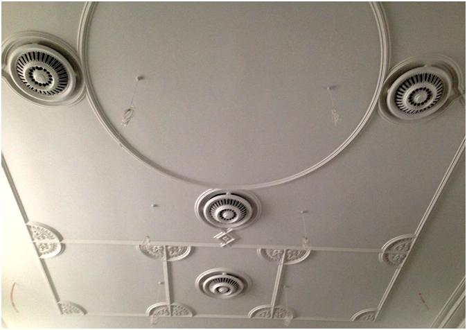 Restored ceiling at Maida Vale Library, July 2013