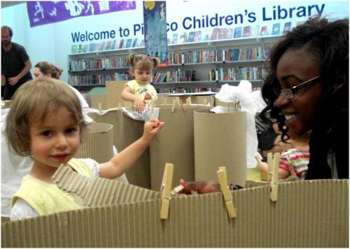 Tate 'Big and Small' event at Pimlico Library, July 2013