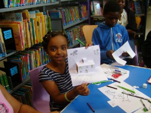 Pop up workshop at Maida Vale Library, August 2013