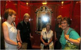 An original victorian lift at the Savoy Hotel
