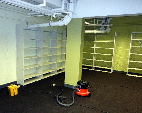 Getting the new Marylebone Library ready, August 2013
