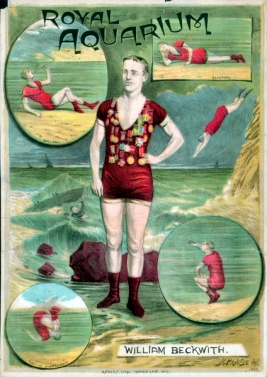 William Beckwith, Champion swimmer, 1882