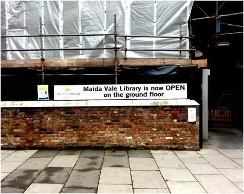 Maida Vale Library banner, September 2013