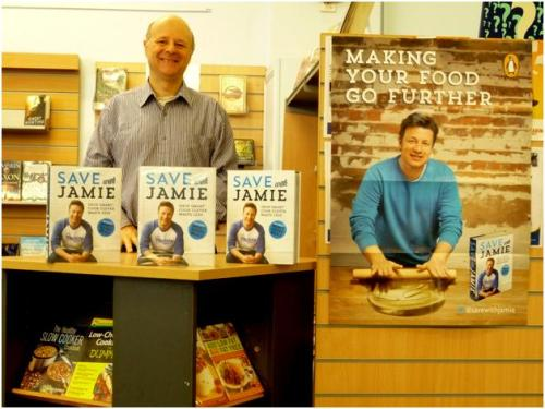 Jamie Oliver display at Paddington Library