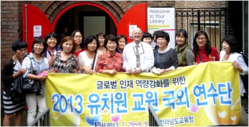 Nursery teachers from South Korea visit Paddington Library