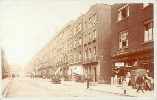 Beaumont Street, 1907. Image property of Westminster City Archives