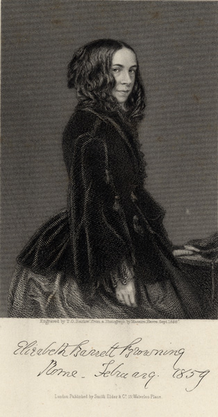 Elizabeth Barrett Browning, 1859. Image property of Westminster City Archives