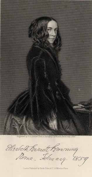 Elizabeth Barrett Browning, 1859. Image property of Westminster City Archives