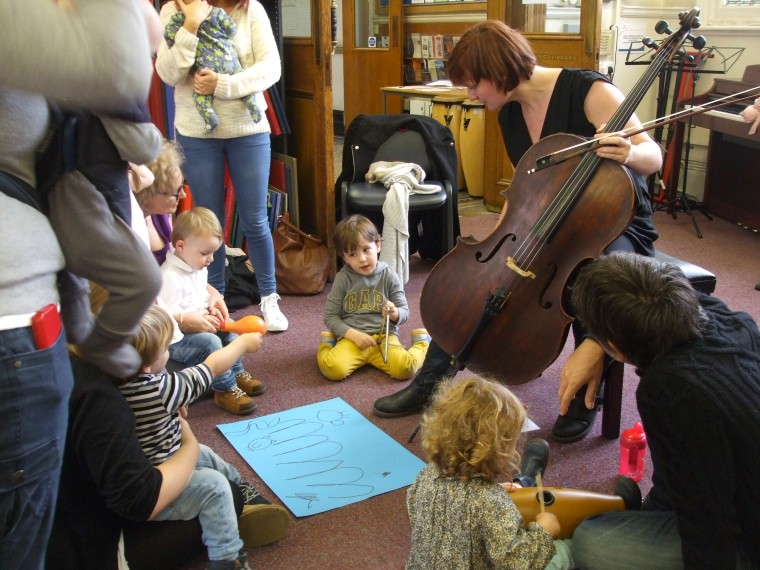Behind the Lines Early Years workshop at Westminster Music Library, 19 October 2013