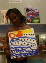 Naité, 6, has painted the area she comes from