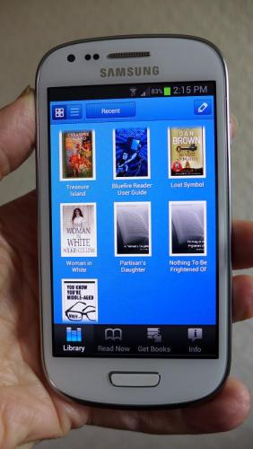 Westminster Libraries e-books on a smartphone