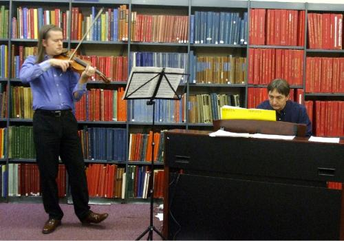 Simon Baggs at Westminster Music Library