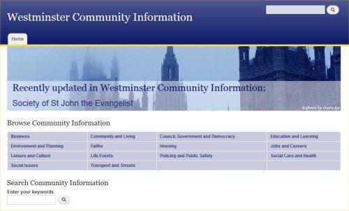 Westminster Community Information website