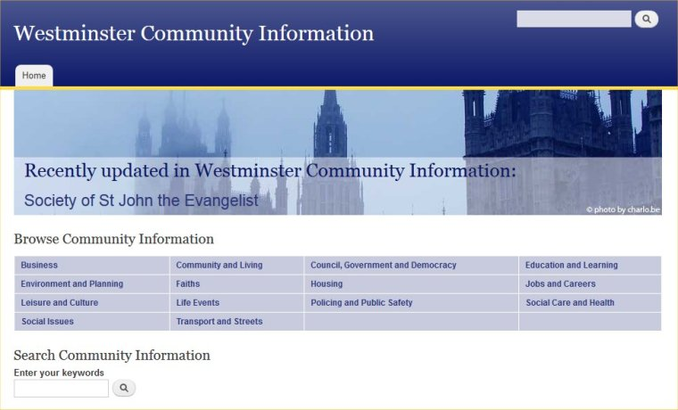 Westminster Community Information website
