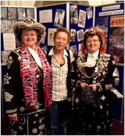 Ros and two pearly queens at the London Coliseum, January 2014
