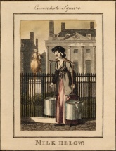 Milk Below. London Cries: Ashbridge Collection, 1804. Image property of Westminster City Archives