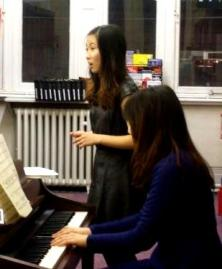 Soprano Jessie Tse and pianist Jiyeon Kim at Westminster Music Library, February 2014