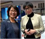 Representative Hsu Feng-Chuan of the Taipei Representative office in the UK and Chichy Li, Chinese Library Team Leader