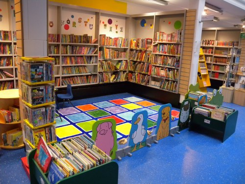 The lovely new children's area in Charing Cross Library, April 2014