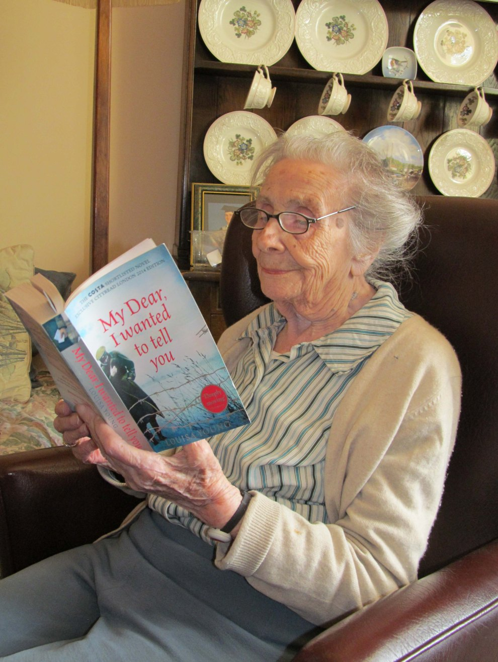 A Book Talk member reading 2014's Cityread London title
