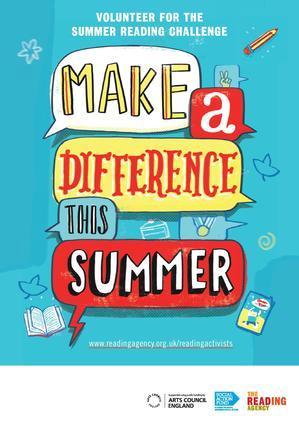 Summer Reading Challenge Volunteer poster 2014