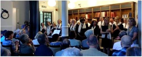 The Mayfair Community Choir at Mayfair Library, June 2014