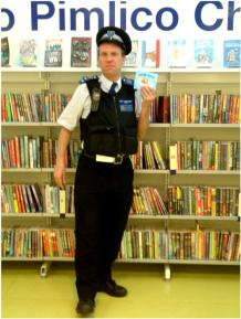 CSO Little visits Pimlico Library for National Bookstart Week, June 2014