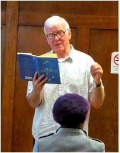 Gordon Griffin, audiobooks narrator, at Paddington Library June 2014