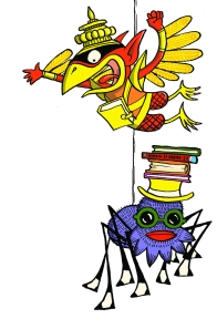 Anansi & Garuda - copyright Sarah McIntyre for The Reading Agency