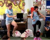 Diddidance at Marylebone Library for the Summer Reading Challenge, July 2014