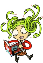 Medusa - copyright Sarah McIntyre for The Reading Agency