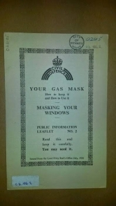 Public information leaflets No 2 Your gas mask - Masking your windows 1939.