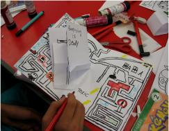 Comic workshop at Paddington Children's Library for the Summer Reading Challenge 2014