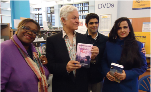 Author Balraj Khanna visits Paddington Library, August 2014
