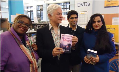 Author Balraj Khanna visits Paddington Library, August 2014