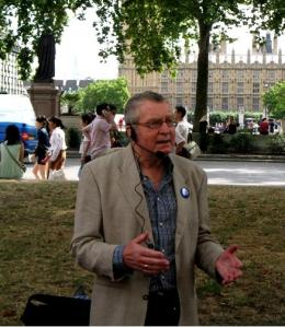 City of Westminster Guide Keith Warner at Parliament Square