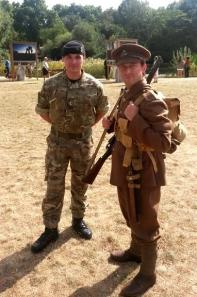 WW1 soldier Robert 'Pom Pom' Whiting meets a current soldier from the London Irish Rifles.