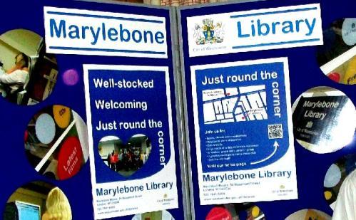 Marylebone Library display