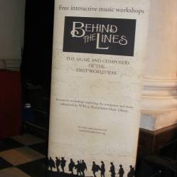 Behind the Lines Summer School and performance at St John's Smith Square, August 2014