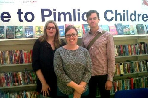Stockholm librarians visiting Pimlico Library, September 2014